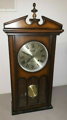 Vintage Centurion 35 day wind-up Mantle Table or Wall Clock keeps time, antique