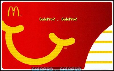 McDONALDs 2007 CANADIAN SMILE TO HAPPY MEALS FOR CHILDREN COLLECTIBLE GIFT CARD