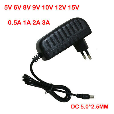 DC5V 6V 8V 9V 10V 12V 15V 0.5 1A Universal Power Adapter Supply Charger adapter