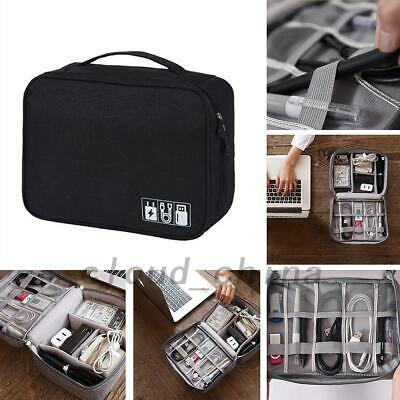USB Cable Charger Storage Bag Electronic Accessories Organizer Box Zip Closure