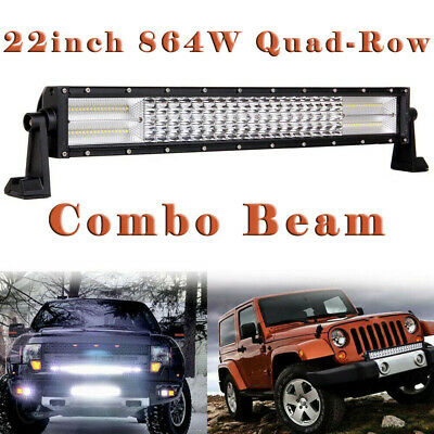 "QUAD ROW Straight 22"" Inch LED Light Bar Spot Flood Combo Offroad Driving CAO"