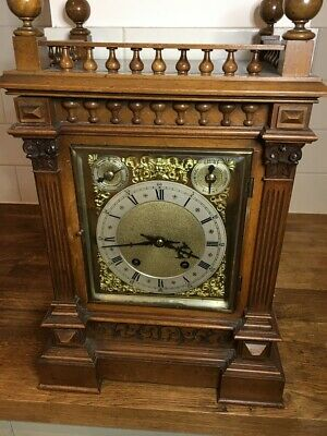 Antique Ting Tang Winterhalder Hofmeier Bracket Clock Or Mantle Clock