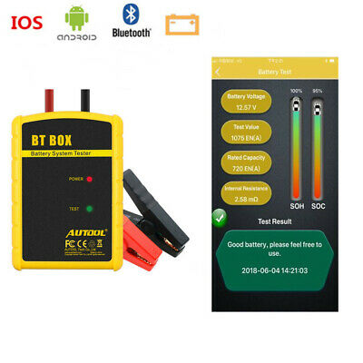 AUTOOL 12V Auto Battery System Tester Cranking Diagnosis Tool For Android iPhone