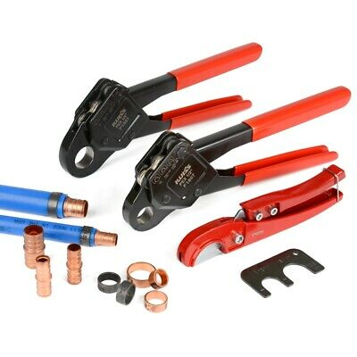 "IWISS Combo Angle Head PEX Pipe Crimping Tool Kits Used for 1/2"" & 3/4"" Pex Crim"