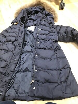 Moncler Junior Girls  Coat Navy Blue Age 8(now Cleaned And Ready To Go )