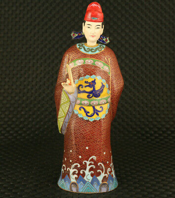 chinese rare old cloisonne man statue figure big rare home decoration gift