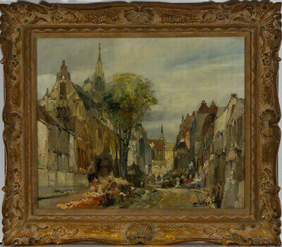 Fine American Early 20th Century Oil - Impressionist Street Scene
