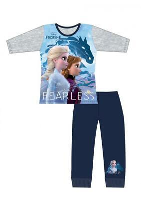 Girls Disney Frozen 2 Long Pyjamas Pjs Nightwear Age 4-10 Years Official