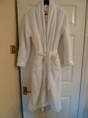 Ladies Super Soft Brand New Dressing Gown White Xs Tags Attached - Next