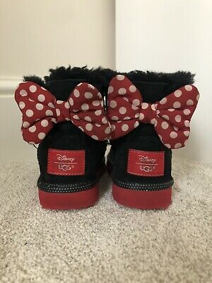 Girls Size 8 Infant Ugg Boots Minnie Mouse Disney Genuine Rare