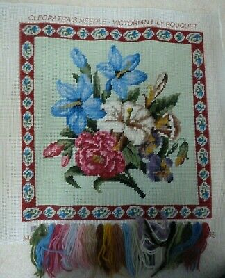 Victorian Lily Bouquet, Cleopatra's Needle , Tapestry Needlepoint,Wool