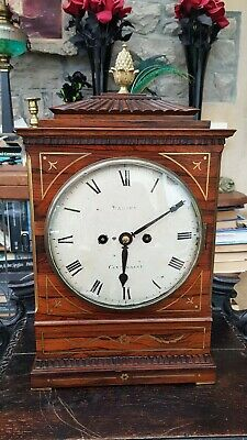 Antique-Georgian Fusee/Verge Bracket Clock-James Warren Of Canterbury-GWO-c1810