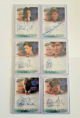 JAMES BOND DIE ANOTHER DAY AUTOGRAPH CARDS LOT x 6 - A3, A4, A5, A6, A7 & A8