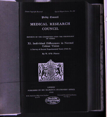 medical research council 1933 london   orig. sehr seltener Negativfilm