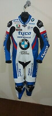 BMW Tyco Motorrad MotoGp Motorbike Leather Racing Suit All Size Availablel
