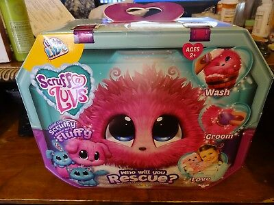 Scruff A Luvs Little Live Pets Pink Who will you rescue Dog Cat Bunny Hot Toy