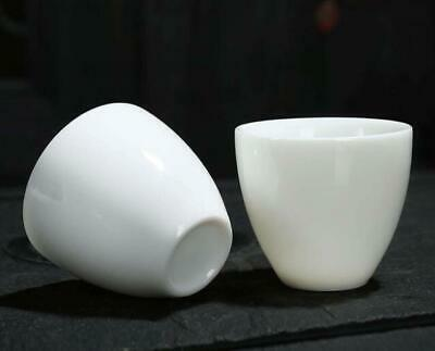 Pair Collection chinese Handwork Dehua white porcelain teacup cup Ab01J