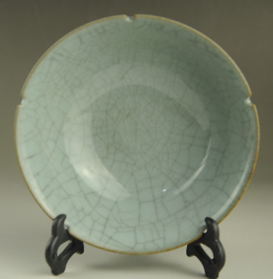 Old Chinese Song Dynasty Royal Kiln Porcelain natural cracked glaze dish /Db01J