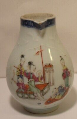 Superbly Decorated 18th  Century Chinese Famille Rose Sparrow Beak Jug