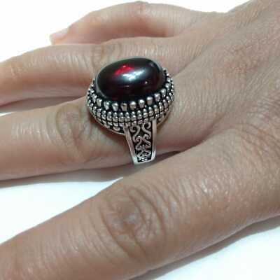 Ancient Victorian Silver Ring Beautiful Carnelian Red royal Stone Rare vintage