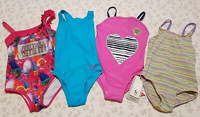 Girls Swimsuit Bundle Age 3-4 1 New With Tags Trolls Zoggs Sparkly