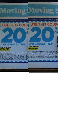 expired 2 Bed Bath and Beyond Coupn~20% Off Single Item Online Delivery 8/26/19