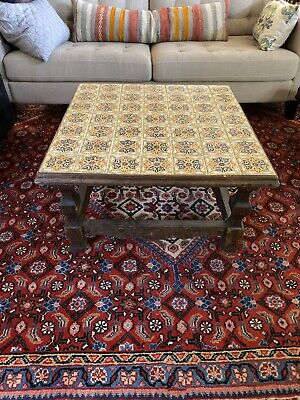 Vintage Colonial Style Mexican Tile Coffee Table