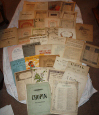 Huge Lot of 39 Vintage Mixed Classic Sheet Music Song Books