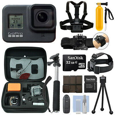 GoPro HERO8 Black 12 MP Waterproof 4K Camera Camcorder + 32GB Action Bundle