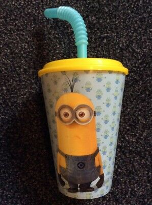 Minions Despicable Me Children's Beaker With Straw