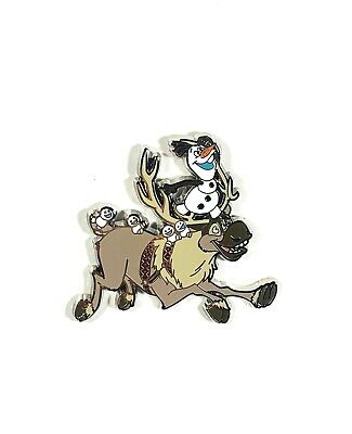 Disney Parks Exclusive Frozen Olaf and Snowgies Riding on Sven Pin New