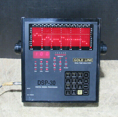 Gold Line DSP-30 Portable Real Time Analyzer w/ Handle Tested and Working