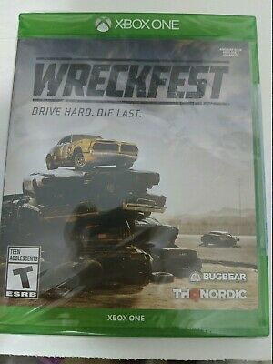 Wreckfest (Microsoft Xbox One) Factory Sealed free shipping