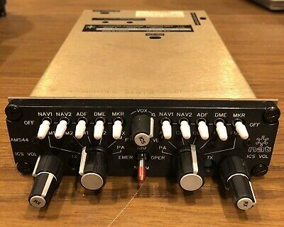 NAT AMS44 Audio Controller with 5th Passenger Intercom MOD 8130-3 and Connector
