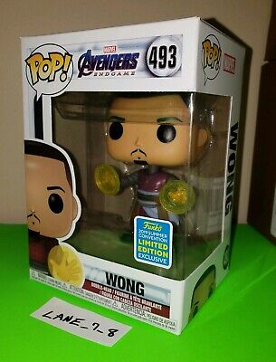 Funko Pop! Wong SDCC Exclusive Brand New Marvel Avengers Endgame 2019 #493