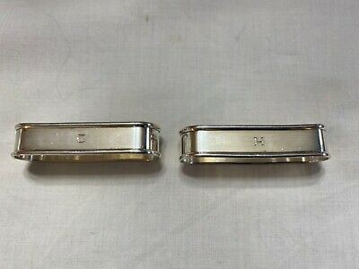 "Pair Of Antique Gorham Sterling Silver Napkin Rings - Monogrammed ""G"" ""H"""