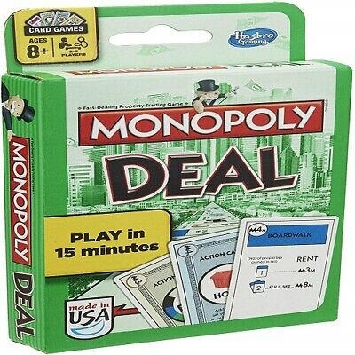 Game Monopoly Deal Card New Hasbro Parker Brothers Scrabble Slam Cards Sealed 2