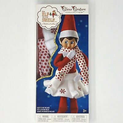 Elf On The Shelf Claus Couture Clothes Snowflake Skirt & Scarf Set