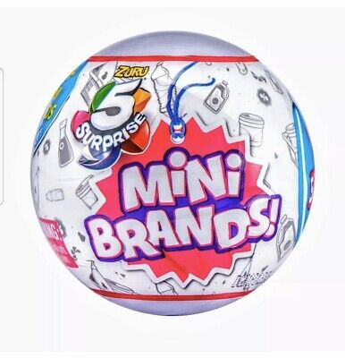 🔥🎅🏻5 Surprise Mini Brands🎅🏻🔥 1 BALL -BY ZURU 100% AUTHENTIC   HOTTEST TOY