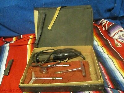 Vintage Master Violet Ray Quack Medical Device w 3 Glass Wands +Box NON WORKING