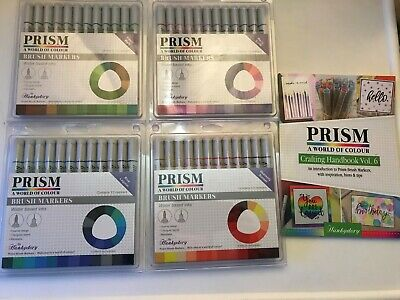 Hunkydory Prism Brushmarker Pens Collection: 48 Twin Tipped Pins + Handbook