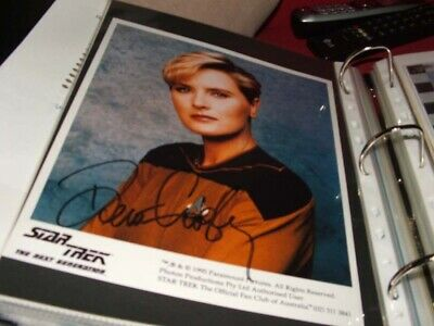 star trek hand signed Autograph Denise Crosby As Tasha Yar