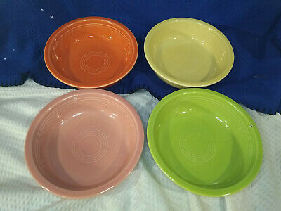 FIESTAWARE~Soup/Cereal Bowls~Mixed Colors~Set of 4~NICE!