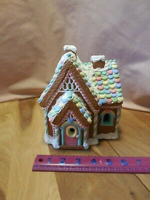 Wee Crafts Gingerbread House, Lighted and Painted