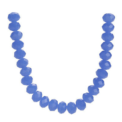 Jade Blue Beads Spacer 3-10mm Loose Rondelle Faceted Glass Crystal Wholesale