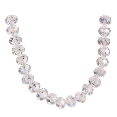 Faceted Loose White AB 3-18mm Crystal Making Rondelle Glass Wholesale Beads