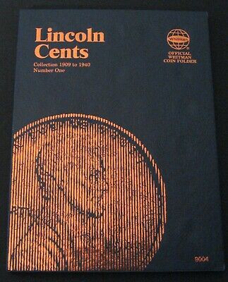 Whitman Lincoln One Cent Wheat Penny Folder Album Book  No.1 1909 - 1940