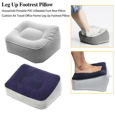 Flocked Inflatable Foot Pad Portable Travel Cushion PVC Footrest Pillow Support