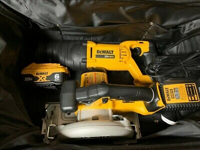 Dewalt 20V Max Dcs393 Saw & Dcs381 Saw Combo Kit With 1 Dcb206 Battery & Charger
