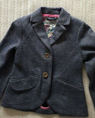 Girls Joules Blue Tweed  Style Riding Jacket  Size 5 yrs BNWOT